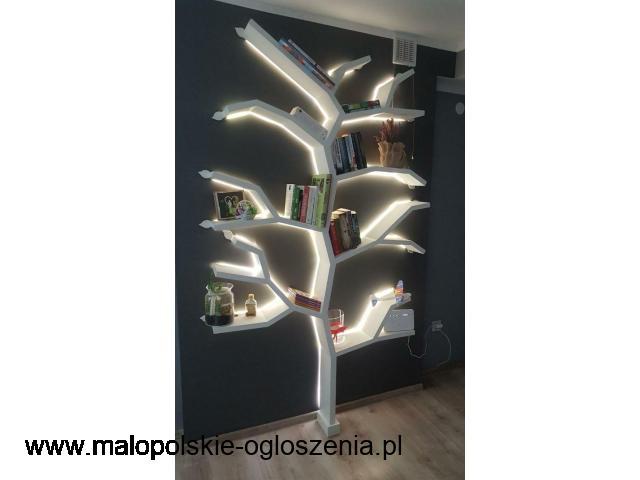 Drzwi, schody, komody LED na książki, alkohol, stolarstwo profesjonalne
